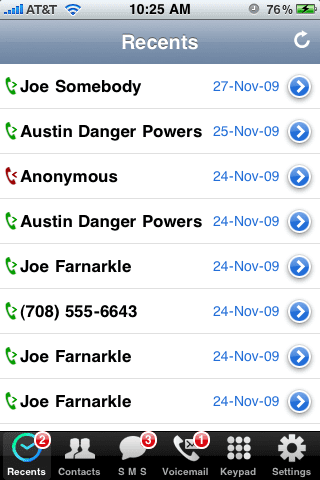пропущенные звонки на iPhone