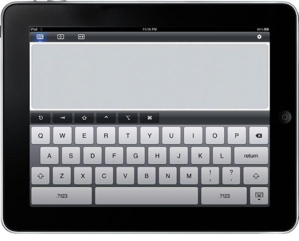 Общий вид клавиатуры iPad
