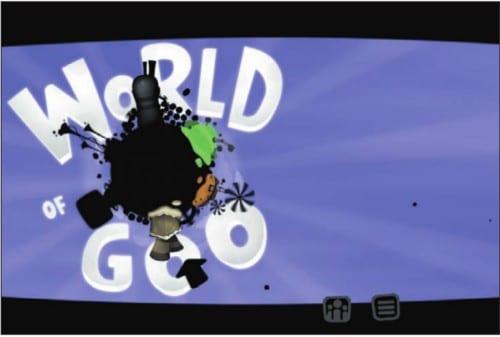 Главное меню игры World of Goo HD