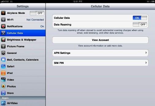 Подписка на 3G-услуги прямо с iPad