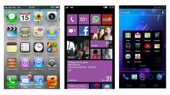 iPhone 5 vs Windows Phone 8 vs Android