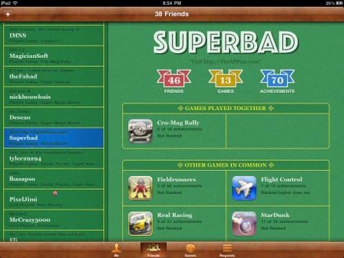 Game Center на iPad