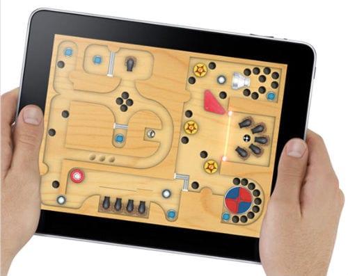 Игра на экране iPad