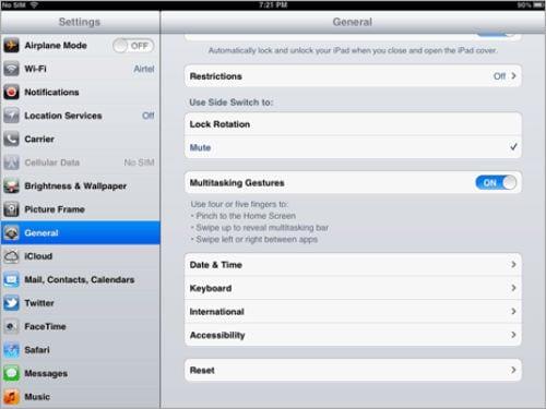 Настройки клавиатуры iPad