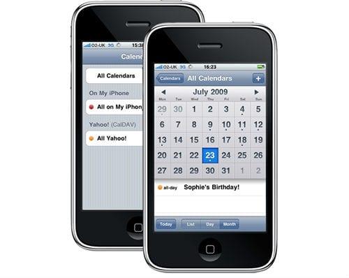 Программа календаря на iPhone