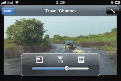 Трансляция канала Travel Channel и элементы управления