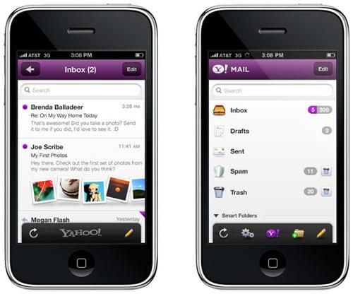 Аккаунт Yahoo! на iPhone