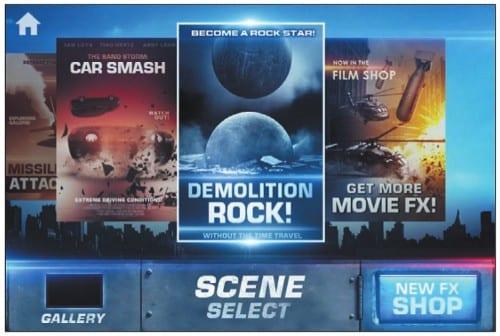 Выбор сюжета для наложения на видео в Action Movie FX