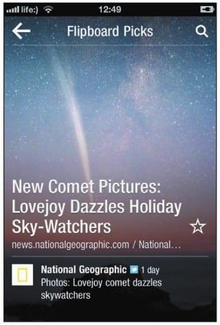 Заголовки статей на экране iPhone показываются по одному