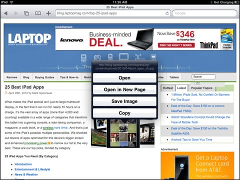 Сохранение изображений с веб-страниц в Safari