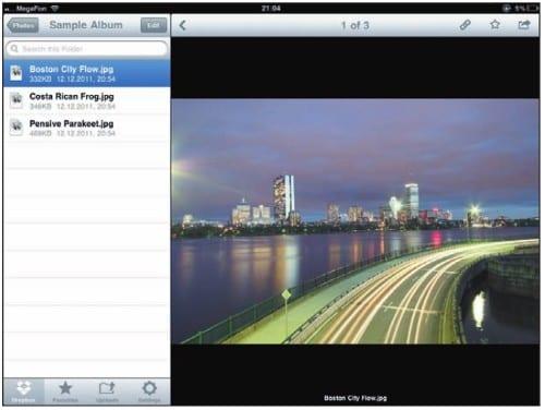приложение Dropbox на iPad