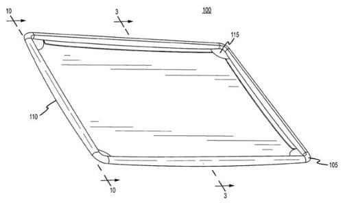Патент усиленный корпус устройства (USPTO заявление 20100289390)