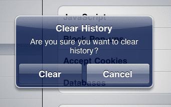 «Очистить историю» (Clear History)