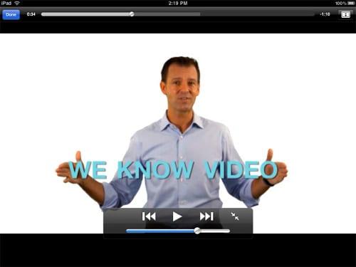 Нажмите на экран во время просмотра видео, чтобы показать элементы управления
