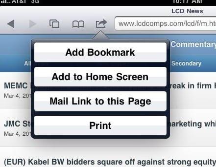 В меню «Закладка» (Add Bookmark) можно указать название и адрес закладки