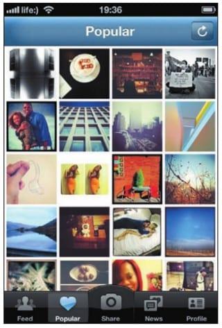 Галерея фотографий, популярных в Instagram