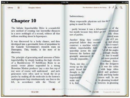 Электронная книга в iBooks на iPad