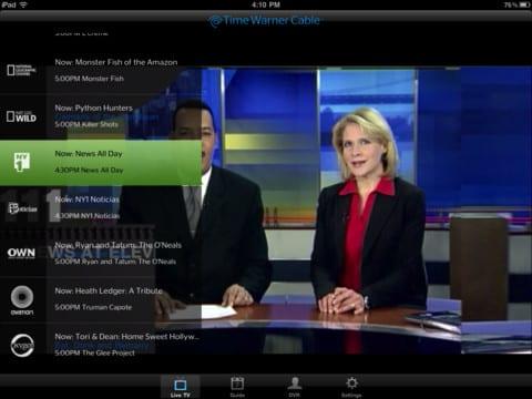 приложение для просмотра потокового видео от компании Time Warner Cable