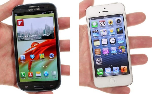 iPhone 5 vs. Samsung Galaxy S III - внешний вид