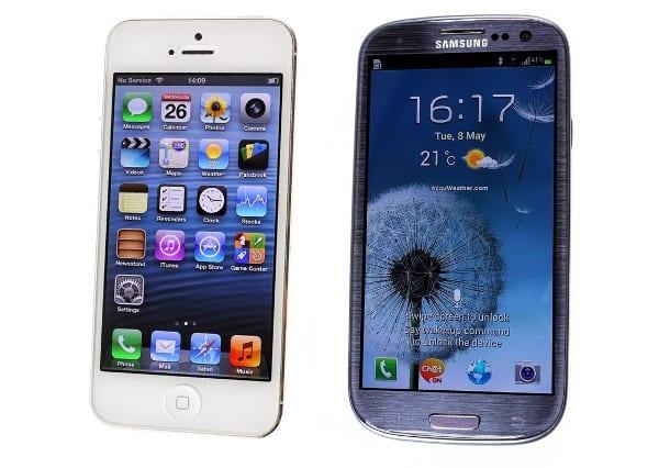 Дисплеи iPhone 5 и Samsung Galaxy S III