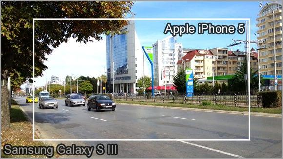 Размер кадра Galaxy S III и iPhone 5