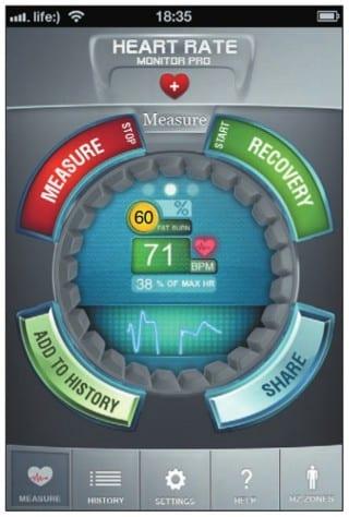 Процесс измерения сердечного пульса
