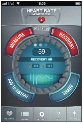 Режим Recovery для измерения скорости восстановления сердцебиения