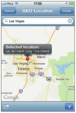 Выбор города на карте для создания QR-кода его координат