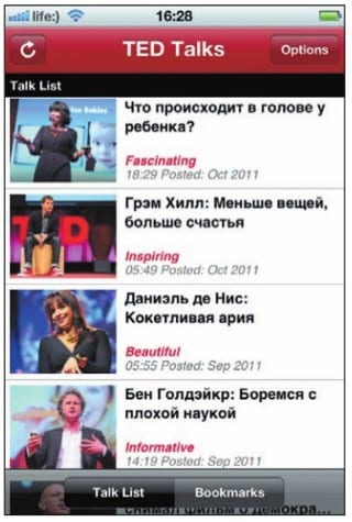 Список разговоров TED с русскими субтитрами