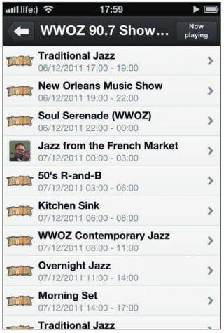 Сетка вещания канала WWOZ 90.7
