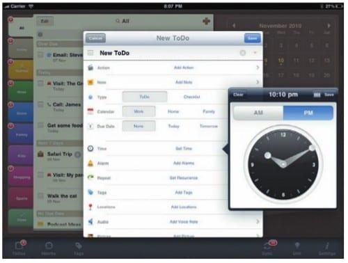 att2Do - редактирование задачи на iPad