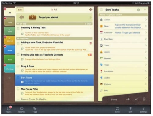 att2Do на экране iPad
