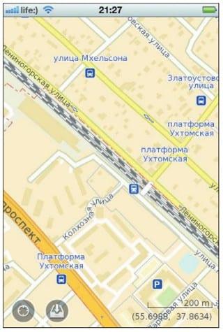 Район в Подмосковье при большом приближении