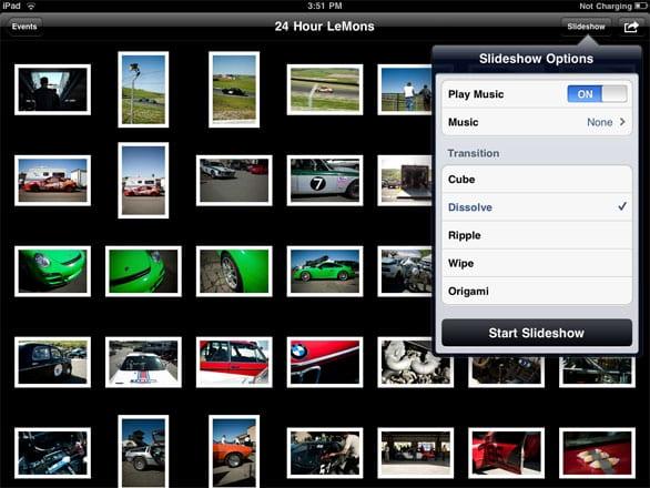 Слайд-шоу фотографий на iPad