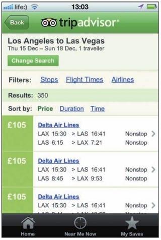 Стоимость авиаперелетов в Tripadvisor