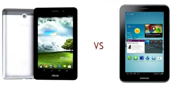 Asus FonePad и Samsung Galaxy Tab 2