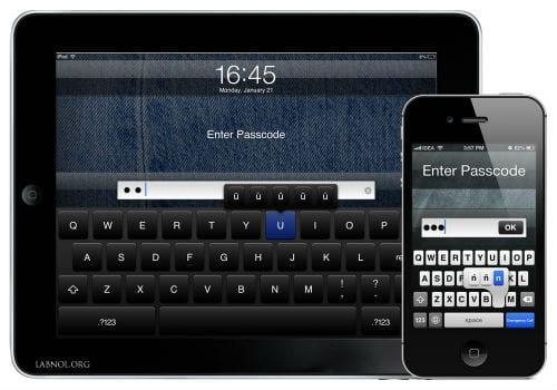 защита паролем iOS устройства