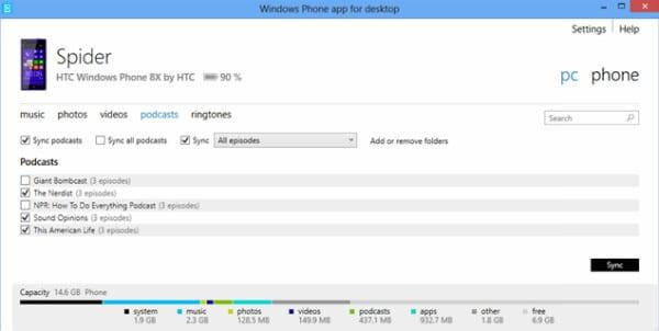 Windows Phone приложение для ПК