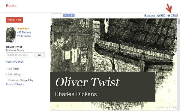 Скачивание Google Books в формате EPUB