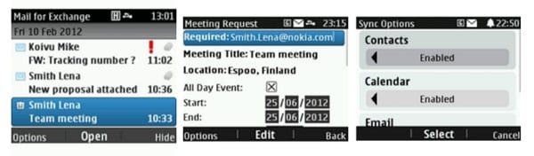 Mail For Exchange для телефонов Nokia Asha
