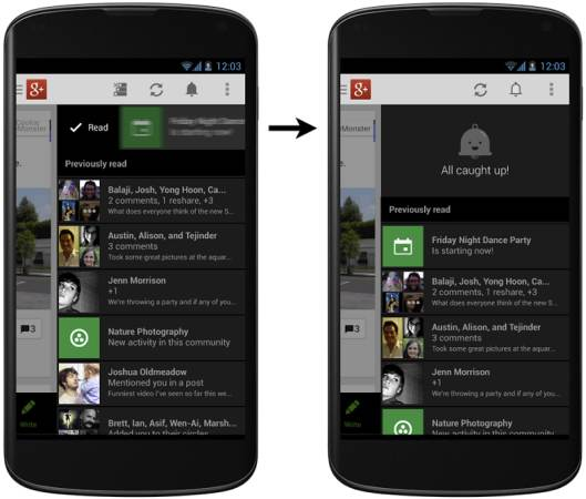 Система уведомлений Google+
