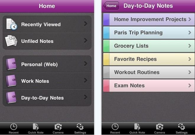 OneNote как диспетчер задач для iPhone