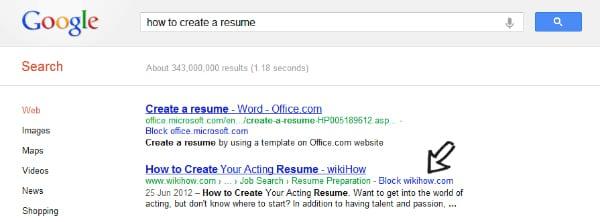 Блокирование веб-сайтов от появления в результатах поиска Google