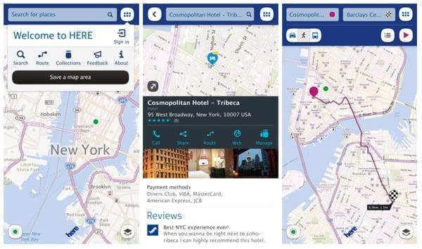 Here Maps на Nokia Asha 501