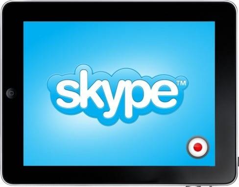 Skype звонки на iPad