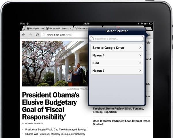 Сохранение веб-страниц в виде PDF-файлов в Chrome на вашем iPad и iPhone