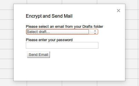 Зашифровка сообщения Gmail в Google Docs