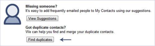 обнаружение повторяющихся записей в Google Contacts