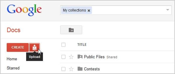 Скрытие файлов в Google Docs