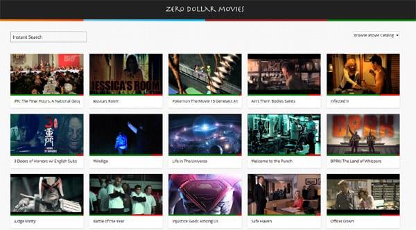 сайт  Zero Dollar Movies